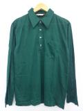 M★古着 長袖 シャツ 70年代 緑 グリーン 19oct11 中古 メンズ トップス