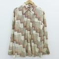 XL★古着 長袖 シャツ 70年代 70s 大きいサイズ 生成り 20mar04 中古 メンズ トップス