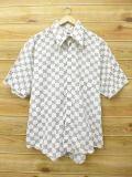 XL★古着 半袖 シャツ 70年代 キャンパス こげ茶 ブラウン 18mar19 中古 メンズ トップス