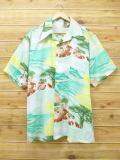 XL★古着 半袖 シャツ 70年代 マクレガー McGREGOR 海 大きいサイズ USA製 青緑 18apr20 中古 メンズ トップス