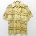 M★古着 半袖 シャツ 70年代 70s ジャンセン USA製 ベージュ カーキ 21apr09 中古 メンズ トップス