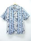 L★古着 ハワイアン シャツ ハイビスカス ハワイ製 黒他 ブラック 19aug08 中古 メンズ 半袖 アロハ トップス