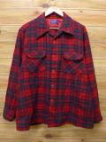 XL★古着 長袖 ウール シャツ 80年代 ペンドルトン PENDLETON USA製 赤 レッド チェック 【spe】 18feb09 中古 メンズ トップス