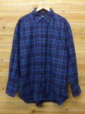 XL★古着 長袖 ウール シャツ ペンドルトン PENDLETON 大きいサイズ 青 ブルー チェック 18sep17 中古 メンズ トップス