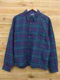 XL★古着 長袖 ウール シャツ 80年代 ペンドルトン PENDLETON USA製 紺他 ネイビー チェック 18sep19 中古 メンズ トップス