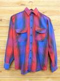 M★古着 長袖 ヘビー フランネル シャツ 80年代 ファイブブラザー USA製 赤他 レッド チェック 【spe】 18sep19 中古 メンズ トップス
