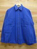 XL★古着 長袖 ヘビー フランネル シャツ 90年代 ビッグマック USA製 青 ブルー ストライプ 【spe】 18sep25 中古 メンズ トップス