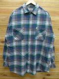 XL★古着 長袖 ヘビー フランネル シャツ ビッグマック BIC MAC 大きいサイズ 緑 グリーン チェック 18sep25 中古 メンズ トップス