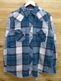 XL★古着 長袖 ヘビー フランネル シャツ ウエスタン ラングラー Wrangler 青緑 チェック 18sep25 中古 メンズ トップス