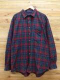 XL★古着 長袖 ウール シャツ ペンドルトン PENDLETON 大きいサイズ 緑他 グリーン チェック 18oct10 中古 メンズ トップス