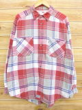 XL★古着 フランネル シャツ 90年代 リーバイス Levis 赤 レッド チェック 18oct15 中古 メンズ トップス