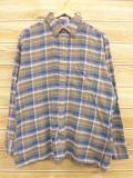 XL★古着 フランネル シャツ 80年代 JCペニー 茶 ブラウン チェック 18oct15 中古 メンズ トップス