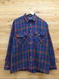 XL★古着 長袖 シャツ 90年代 紺 ネイビー 18oct17 中古 メンズ トップス