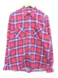 XL★古着 長袖 フランネル シャツ 90年代 赤 レッド チェック 19feb26 中古 メンズ トップス