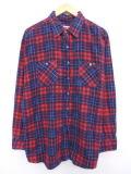 XL★古着 長袖 フランネル シャツ 90年代 USA製 大きいサイズ タータン チェック 19may10 中古 メンズ トップス