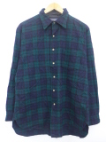 L★古着 長袖 ウール シャツ 80年代 ペンドルトン PENDLETON USA製 緑 グリーン タータン チェック 19oct14 中古 メンズ トップス