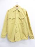L★古着 長袖 ヘビー フランネル シャツ 70年代 USA製 ベージュ カーキ 19oct16 中古 メンズ トップス