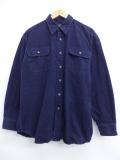 XL★古着 長袖 ヘビー フランネル シャツ レッドヘッド 大きいサイズ 紺 ネイビー 19oct16 中古 メンズ トップス