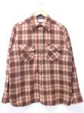 L★古着 長袖 ビンテージ ウール シャツ 80年代 アロー 茶他 ブラウン オーバー チェック 19oct30 中古 メンズ トップス