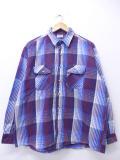 XL★古着 長袖 ブランド ヘビー フランネル シャツ ファイブブラザー 大きいサイズ 青他 ブルー チェック 19oct30 中古 メンズ トップス