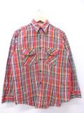 L★古着 長袖 ブランド フランネル シャツ 80年代 80s ファイブブラザー USA製 赤他 レッド チェック 19nov08 中古 メンズ トップス