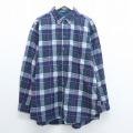 XL★古着 長袖 ウール シャツ 90年代 90s ペンドルトン PENDLETON 大きいサイズ USA製 緑他 グリーン オーバー チェック 19dec03 中古 メンズ トップス