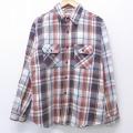 XL★古着 長袖 ヘビー フランネル シャツ 80年代 80s ファイブブラザー USA製 白他 ホワイト チェック 20aug27 中古 メンズ トップス