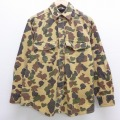 XL★古着 長袖 ヘビー フランネル シャツ 90年代 90s ダックスバック ベージュ カーキ 迷彩 20sep02 中古 メンズ トップス