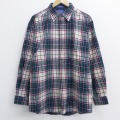 XL★古着 長袖 ウール シャツ 90年代 90s ペンドルトン PENDLETON USA製 緑他 グリーン チェック 20sep10 中古 メンズ トップス