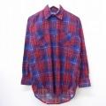 L★古着 長袖 フランネル シャツ 80年代 80s ビッグヤンク 赤他 レッド チェック 20sep15 中古 メンズ トップス