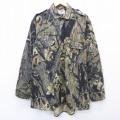 XL★古着 長袖 ハンティング シャツ 90年代 90s モッシーオーク 木 大きいサイズ 茶 ブラウン 迷彩 21mar23 中古 メンズ トップス
