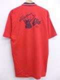 L★古着 ポロ シャツ 90年代 シカ 鹿の子 赤 レッド 【spe】 19aug23 中古 メンズ 半袖 トップス
