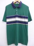 XL★古着 ポロ シャツ 90年代 アロー 緑 グリーン 19aug23 中古 メンズ 半袖 トップス