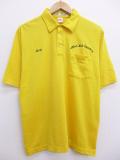 L★古着 ポロ シャツ 90年代 Laundry USA製 黄 イエロー 19aug23 中古 メンズ 半袖 トップス