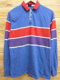 M★古着 長袖 ポロ シャツ 80年代 USA製 薄紺 ネイビー 18feb23 中古 メンズ トップス
