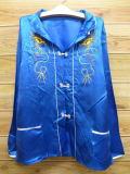 S★古着 長袖 ビンテージ スカシャツ 70年代 リュウ ドラゴン 青 ブルー 18feb27 中古 メンズ トップス