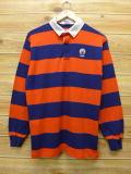 L★古着 長袖 ラガー シャツ 90年代 イリノイ USA製 オレンジ ボーダー 18mar20 中古 メンズ トップス
