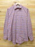M★古着 長袖 シャツ 80年代 オレンジ チェック 18apr05 中古 メンズ トップス
