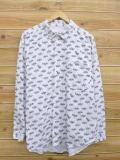 XL★古着 長袖 シャツ 80年代 USA製 白他 ホワイト 【spe】 18may16 中古 メンズ トップス