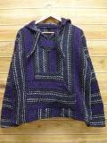 L★古着 メキシカン パーカー メキシコ製 紫他 パープル ストライプ 18may23 中古 メンズ トップス