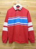 L★古着 長袖 ラガー シャツ 80年代 USA製 赤他 レッド 18jun28 中古 メンズ トップス