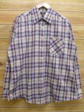 L★古着 長袖 シャツ 80年代 シアーズ ベージュ系 カーキ チェック 18aug08 中古 メンズ トップス