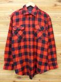 XL★古着 長袖 シャツ 80年代 ビッグヤンク 赤 レッド チェック 18sep11 中古 メンズ トップス WS