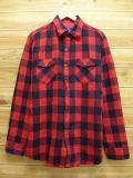 L★古着 長袖 シャツ 80年代 シアーズ 赤 レッド チェック 18oct09 中古 メンズ トップス