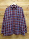 XL★古着 長袖 シャツ 80年代 アロー 大きいサイズ 茶系 ブラウン チェック 18oct29 中古 メンズ トップス