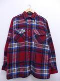 L★古着 長袖 シャツ 90年代 赤 レッド マドラス チェック 19jan10 中古 メンズ トップス