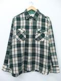 L★古着 長袖 シャツ 80年代 アロー 緑 グリーン チェック 19jan30 中古 メンズ トップス