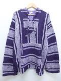 XL★古着 メキシカン パーカー メキシコ製 紫 パープル ストライプ 19apr01 中古 メンズ トップス