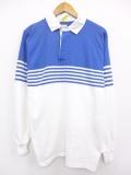 M★古着 長袖 ラガー シャツ 90年代 USA製 青他 ブルー 19sep03 中古 メンズ トップス