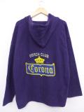 XL★古着 長袖 メキシカン パーカー コロナ ビール コットン 紫 パープル 【spe】 19sep10 中古 メンズ トップス
